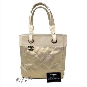Chanel LIKE NEW Paris Biarritz Leather Nylon Tote